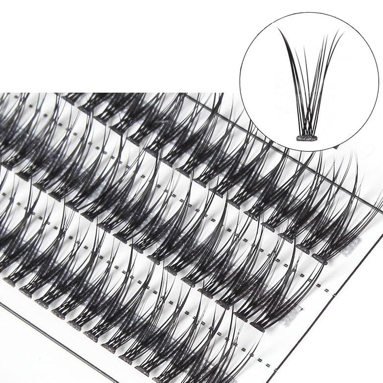 インカ帝国ポスト印象派告発者goupgolboll-女性交差グラフト個々の天然つけまつげまつげエクステ - 10 mm