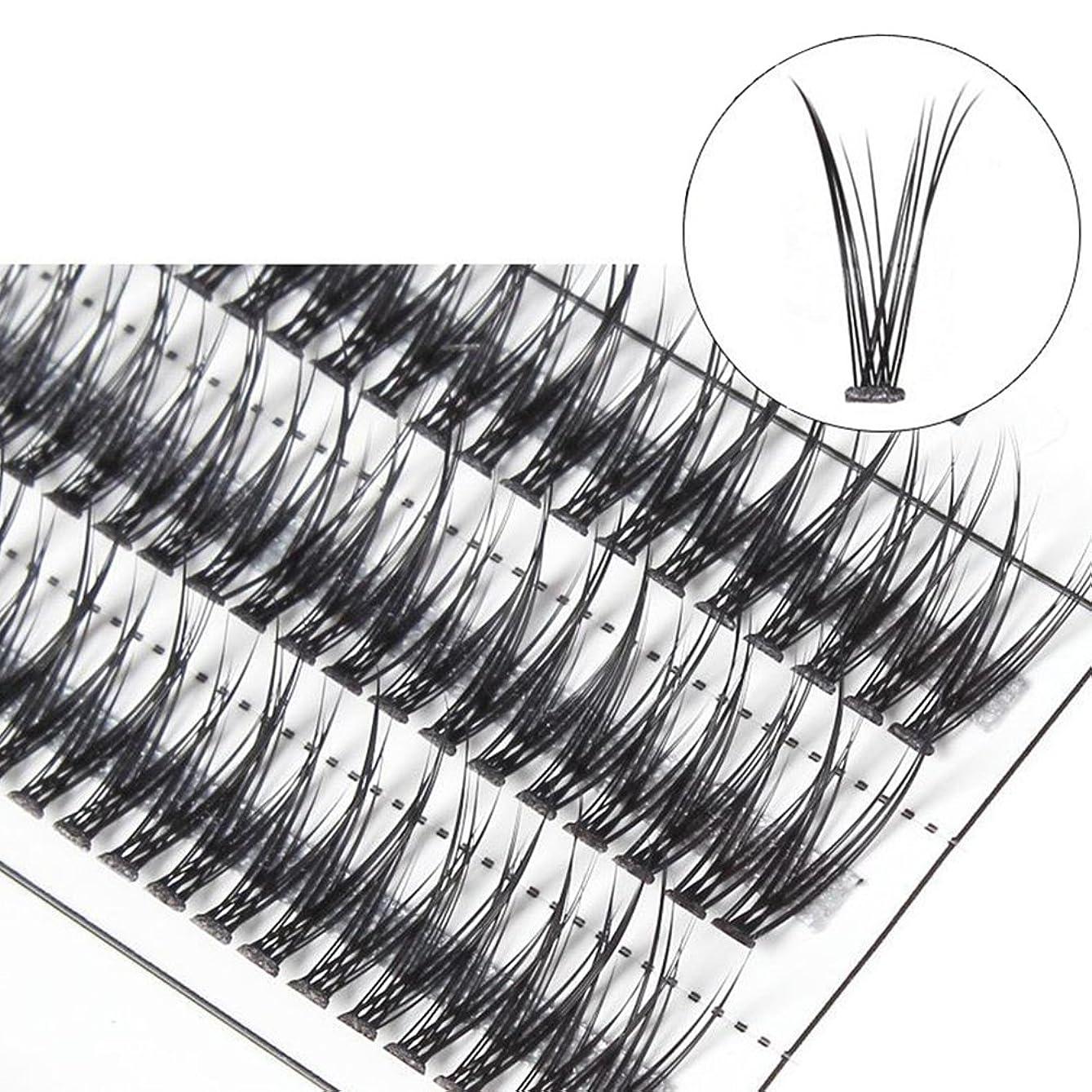 行方不明パーク先行するhamulekfae-女性クロスグラフト個々の天然つけまつげまつげエクステ10mm