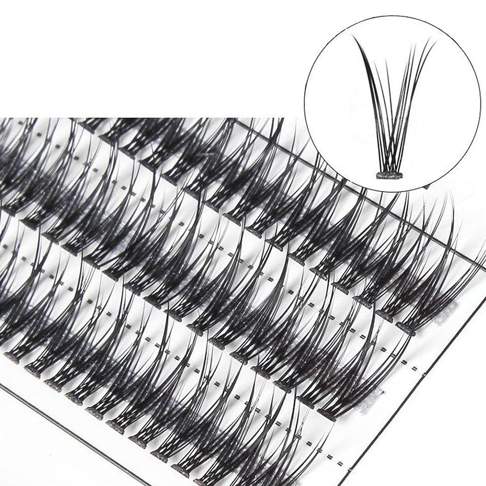 比喩スロー穀物hamulekfae-女性クロスグラフト個々の天然つけまつげまつげエクステ10mm