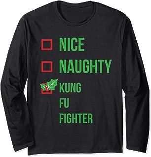 Kung Fu Fighter Funny Pajama Christmas Gift Long Sleeve T-Shirt