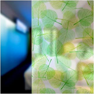 BDF 4GLVW Decorative Window Film Green Leaves on White (14in X 9ft)
