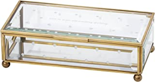 Kate spade new york Out of the Box Larabee Dot Clear Glass Jewelry Box