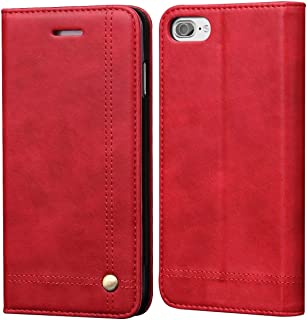 SINIANL iPhone 8 Case iPhone 7 Case, Leather Wallet Case Magnetic Closure with Kikstand & Card Slot Flip Cover for iPhone 7/8
