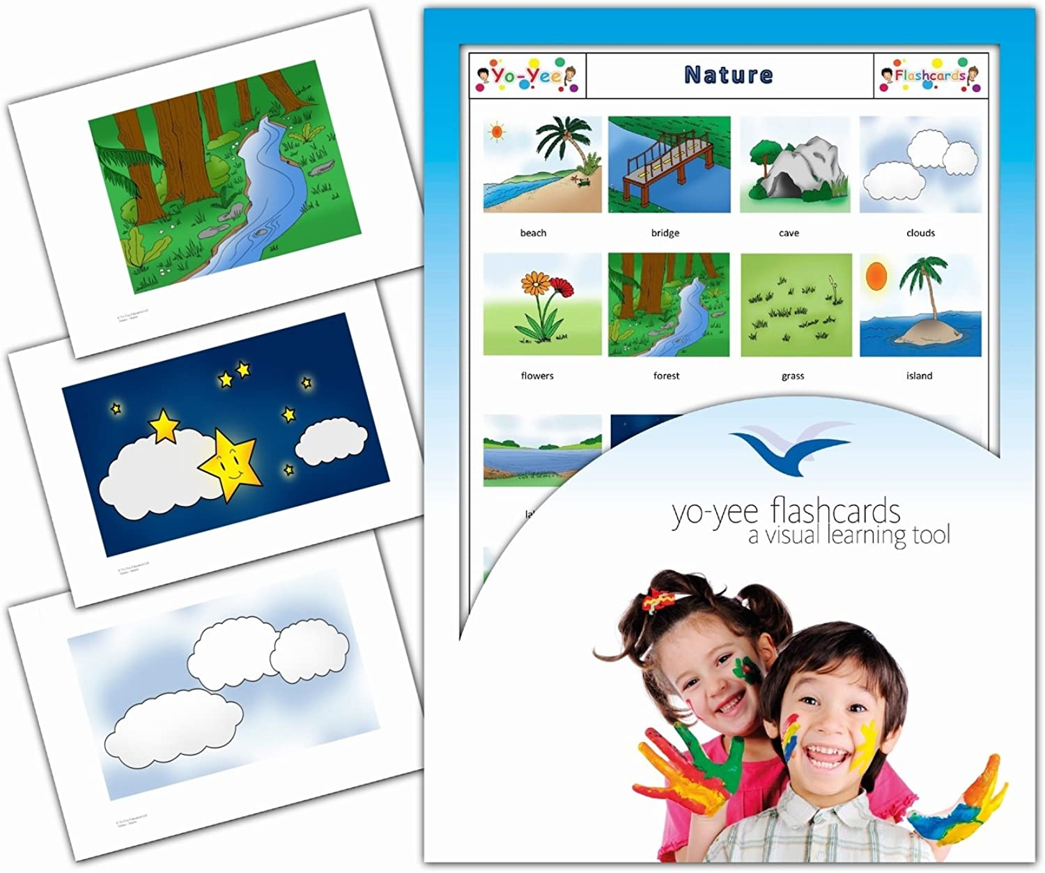 Nature and Environment Flashcards for Toddlers - English Vocabulary Cards