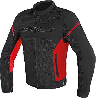 Dainese Air-Frame D1 Textile Motorcycle Jacket Black/Red/Red Size EU 56/US 46