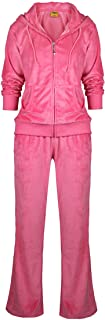 Yasumond Womens Velour Tracksuit Set Soft Sports Joggers Outfits 2 Pieces Sweatsuits Zip Up Hoodies and Sweatpants