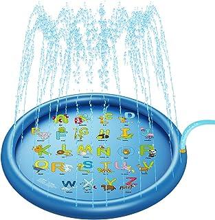 Splash Pad Sprinkler for Kids Water Splash Pad and Wading...