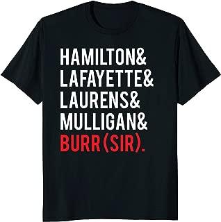 hamilton names shirt