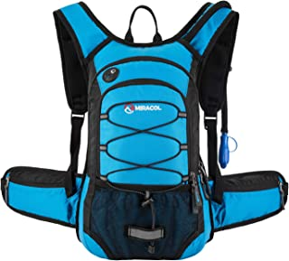 MIRACOL Hydration Backpack with 2L Water Bladder, Thermal Insulation Pack Keeps Liquid Cool up to 4 Hours, Perfect Outdoor Gear for Skiing, Running, Hiking, Cycling