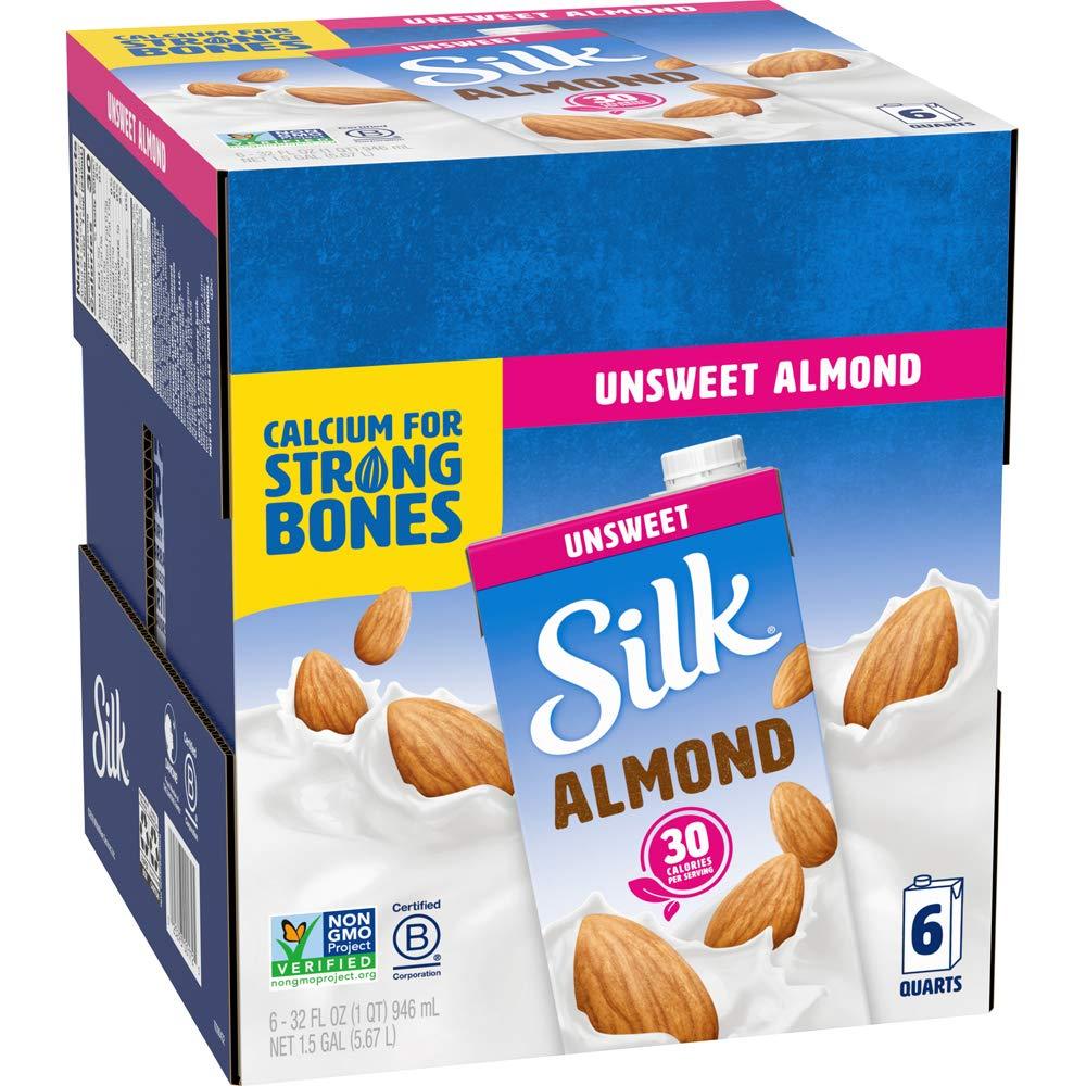 Silk Almond Milk Unsweetened Original 32 of 6 oz Ranking TOP20 Max 70% OFF Pack Shelf St