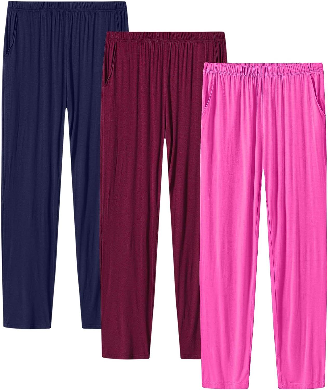 JINSHI Women's 新色追加 Pajama Pants 送料無料 Stretch Lounge Modal Bottoms