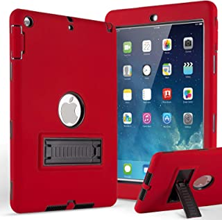 iPad Mini Case, iPad Mini 2 Case, iPad Mini 3 Case,ZERMU 3in1 Kickstand Feature Heavy Duty Shockproof Rugged Cover Silicone+Hard PC Bumper High-Impact Resistant Defender Case for iPad Mini 1/2/3