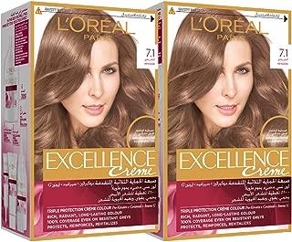 L'Or?al Excellence Cr?me 7.1, 192 ml (Pack of 2) Ash Blonde