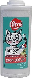 AIME Désodorisant Litière pour Chat, Senteur Pomme Cannelle 700ml
