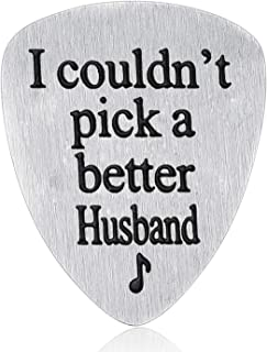 Husband Gifts from Wife - I Couldn't Pick A Better Husband Guitar Pick Valentine's Day Gift for Husband Guitar Picks Men J...