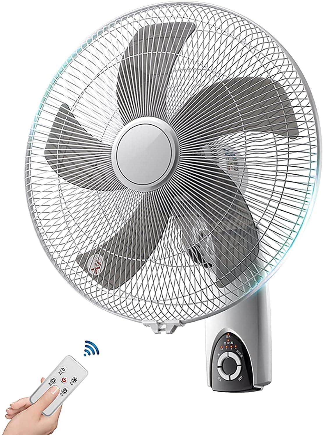 HTDHS Ventilador eléctrico de Control Remoto de Alta Velocidad, diseño de Tiempo Inteligente, Oficina de 16 Pulgadas para el hogar de la Pared de la Pared de la Pared del Viento Giratorio