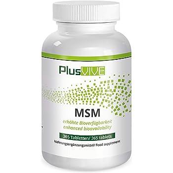 Plusvive - 365gélules de MSM avec matrice de biodisponibilité, (1000mg)