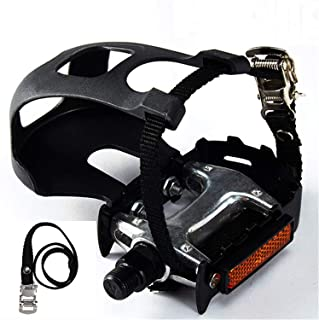NAMUCUO Bike Pedals with Toe Clip and Straps, for...