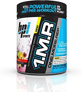 BPI Sports 1.M.R One More Rep Ultra Concentrated Energy Supplement, Fruit Punch Supplement, 8.5 Ounce