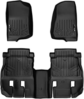 MAXLINER Floor Mats 2 Row Liner Set Black for 2018 Jeep Wrangler Unlimited (JL New Body Style - not JK)