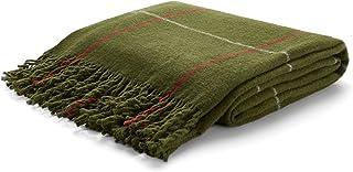 Arus Highlands Collection Tartan Plaid Design Throw Blanket Olive 60 X 80