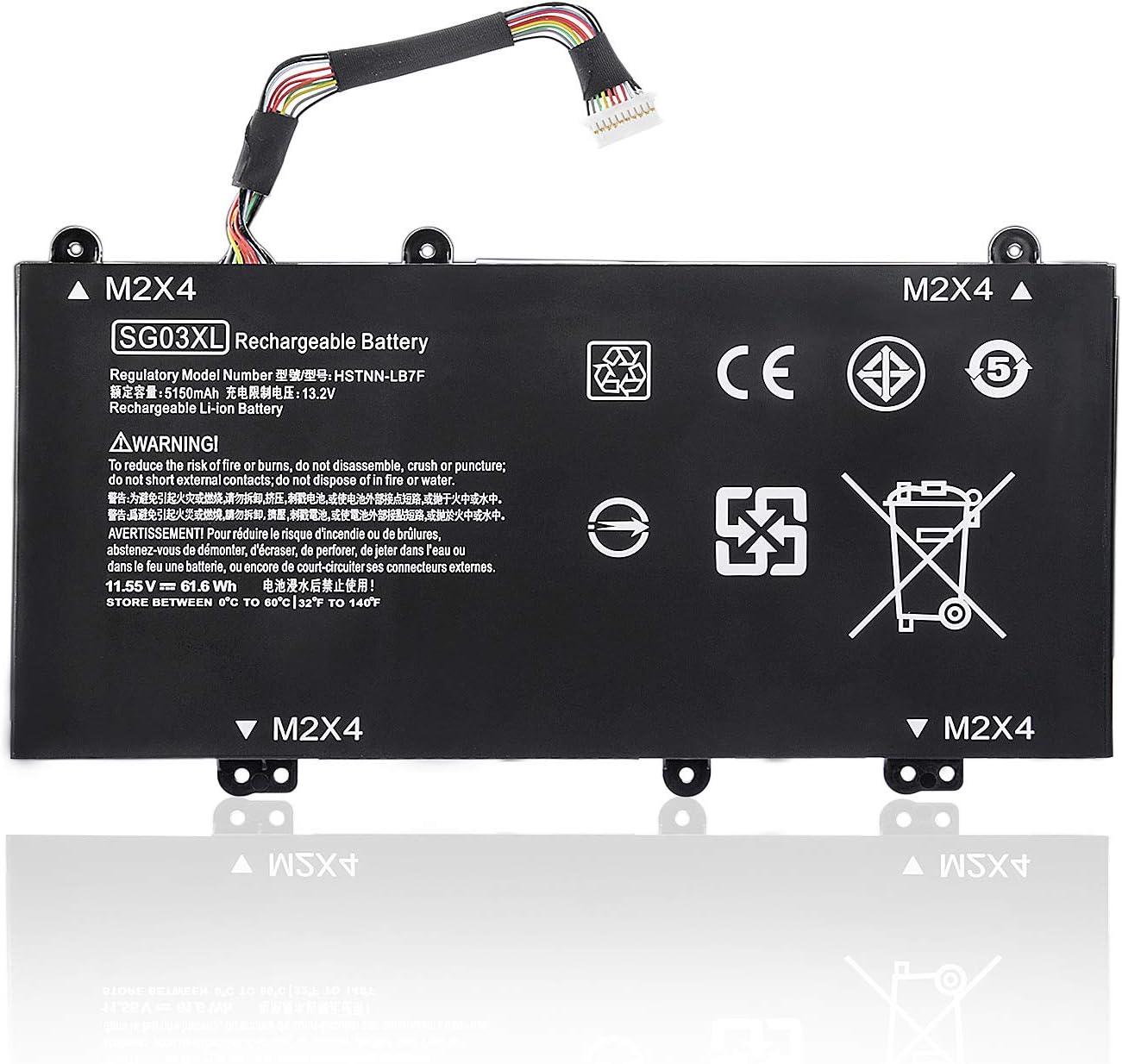 Replacement SG03XL Laptop Battery Compatible with HP Envy M7 M7-U109DX M7-U009DX 17-U011NR 17-U163CL 17-U177CL 849048-421 849049-421 HSTNN-LB7F LB7E 849314-850 849315-850