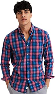 American Eagle Men's 1341638 Long Sleeve Button Up Shirt, Sierra Red