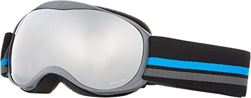 Grey/Black/Blue with Orange Flash Silver Lenses