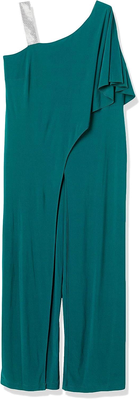 RM Richards womens Womans 売買 Jumsuit チープ Rhinestone Shoulder One