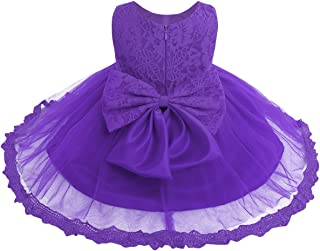 Vintage Lilac Purple Embroidered Floral Baby Girl Dress and Bloomer Set Size 69 Mo