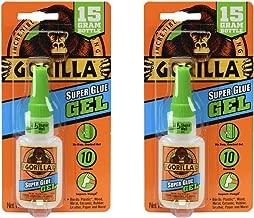 Gorilla Super Glue Gel, 15 Gram, Clear, (2 Pack)