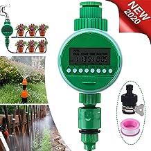 Jeteven Temporizador de riego automático, Digital de Riego Automático con Pantalla LCD, con Cubierta Protectora Resistente al Agua para jardín Invernadero Agricultura Huerta
