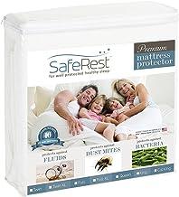 Twin Size SafeRest Premium Hypoallergenic Waterproof Mattress Protector - Vinyl Free