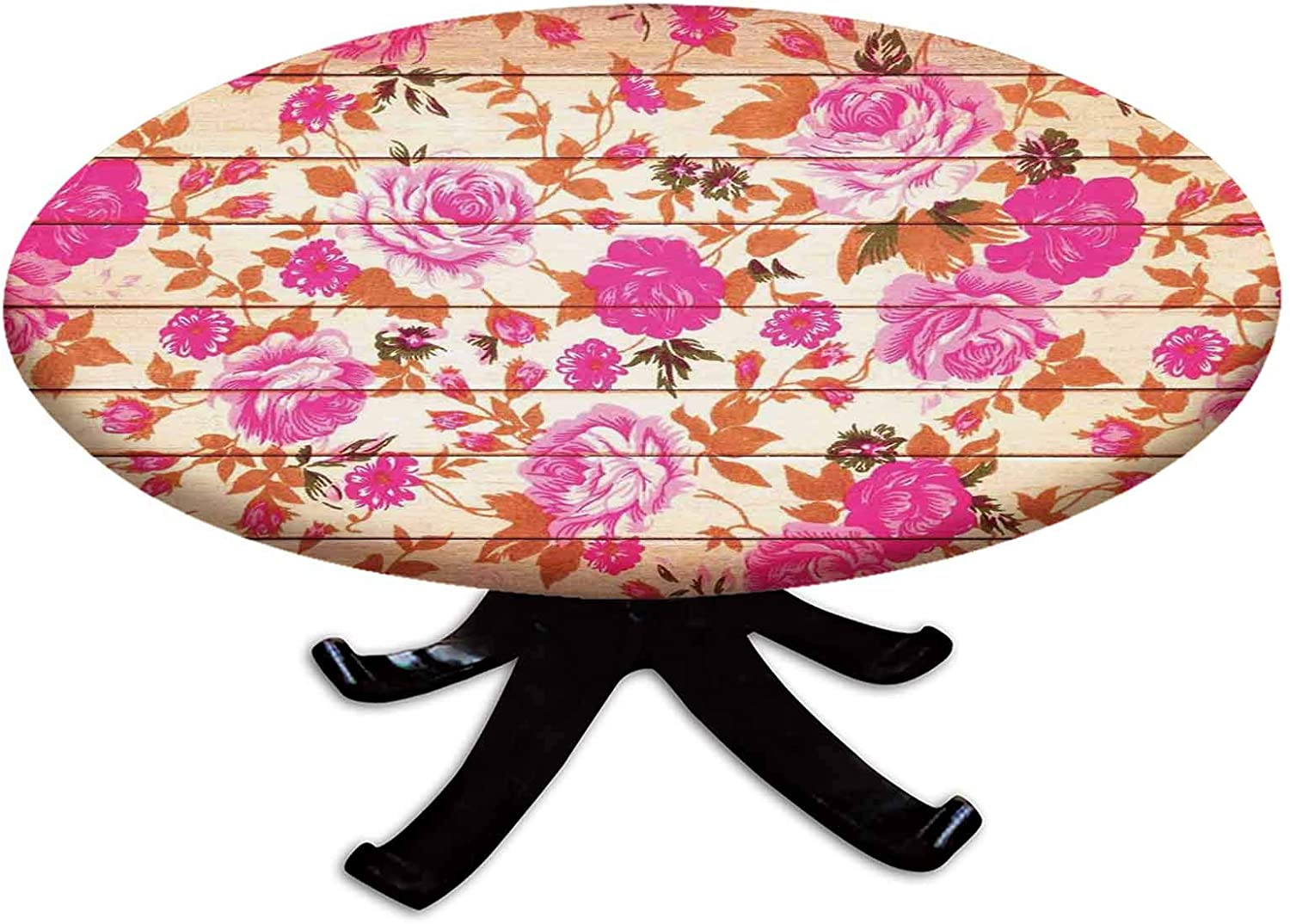 Elastic Edged Polyester Fitted Table 直送商品 Cover Ro Color Vintage Warm 正規店