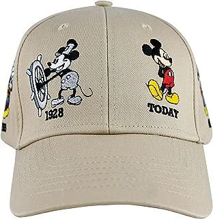Disney Mickey Mouse Adult History Baseball Cap Khaki