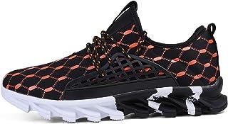 Dingyue Herren große Größe Running Sneaker Schnürer Athletic rutschfeste atmungsaktive weiche Sportschuhe