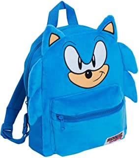 Mochila oficial Sonic The Hedgehog 3D de felpa para niños y niñas Sega School Book Lunch Sports Travel Bag Mochila