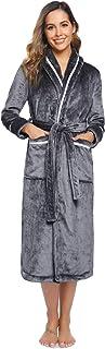Aibrou Clásico Unisex Albornoz Mujer Ducha Invierno del 100% poliéster,Suave Comodo y Agradable para Hombre Mujer