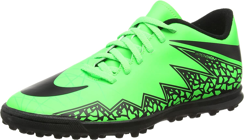 Nike Men's's Hypervenom Phade II TF Football Boots green (Green Strike Black), 39 EU