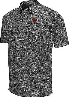 289c apparel Texas Longhorns Mens Grey Pine Synthetic Polo Shirt (X-Large)