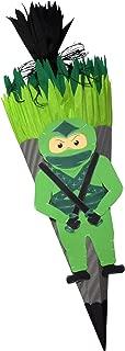 Schult/üte Bastelset Ninja Zuckert/üte aus 3D Wellpappe 68cm hoch