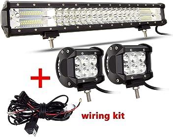 SKYWORLD 10FT 3M 40A DC12V Car Universal Accessories Fog Light Wiring Harness Kit Loom for LED Work Driving Light Bar 2 Leads