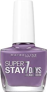 Maybelline New York esmalte efecto gel, Superstay 7Days, colección unnude Dai tonos pastel, 901Visionary, 3paquetes