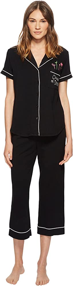 "Kate Spade New York ""Cause A Stir"" Cropped Pajama Set"