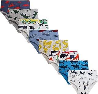 Boys' Underwear Briefs Soft 100% Cotton 6-8 Pack Kids Underwear Toddler Undies