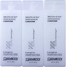 GIOVANNI COSMETICS- Eco Chic Smooth As Silk Conditioner- Deeper Moisture For Damaged Hair- 3 PACK (8.5 Fl Ounce)