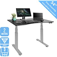 Seville Classics AIRLIFT S3 Electric Standing Desk with 54