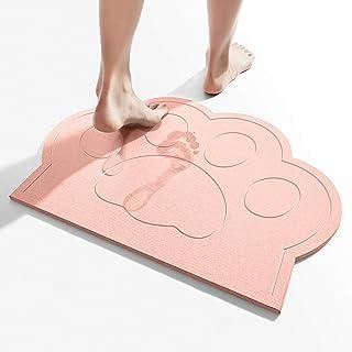 珪藻土 バスマットお風呂マット 足ふきマット 珪藻土マット速乾 快適 調湿 消臭 清潔 滑り止め付 防カビ 浴室 洗面所 脱衣所 可愛い 40x60cm 猫の手 ピンク