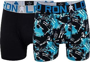 CR7 Cristiano Ronaldo - Boys - Bóxers para niños - Todo sobreimpreso - Pack de 2