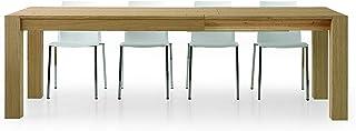 Fashion Commerce FC633 Table en chêne Naturel Extensible, Bois, Marron, 160 x 90 x 75 cm